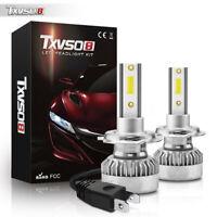 2PCS TXVSO8 G1 H7 55W LED Voiture Headlight Phare Avant Feux Ampoule Lampe 6000K