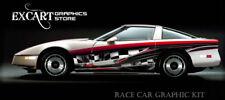 RACE CAR GRAPHICS Partial Vinyl Wrap IMCA Late Model FX Racing Side Stripes