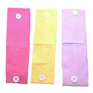 Headbands with Buttons for Mask Ear Strip Holder Sweat Wicking Hair Bands LOT