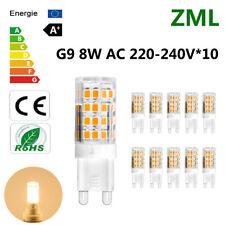 10x G9 LED Bulb 8W 51*2835SMD Warm White Energy Saving Light Super Bright AC220V