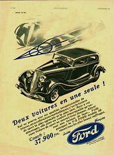 1933 Publicite Automobile : FORD V8 Coach