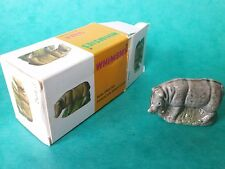 1970'S BOXED WADE WHIMSIES ANIMAL FIGURE - RHINO NO. 31 WADE WHIMSIE