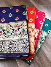Banarasi Silk Saree Indian Designer Sari Wedding Wear Woven Sari Rich Zari Pallu