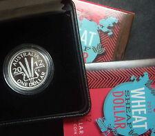 Australia 2012 Wheat Dollar  $1 Silver Proof Coin