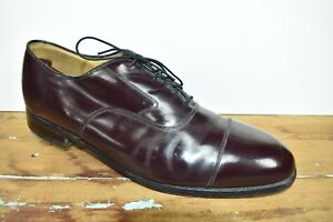 Johnston & Murphy Burgundy Cap Toe Balmoral Men's Size: 11.5C