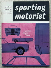 SPORTING MOTORIST Magazine Nov 1961 SAAB GT - Volvo P1800 OULTON PARK GOLD CUP