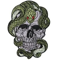 Embroidered Patches Iron Sew On Patch transfers Badges appliques Skull and Snake
