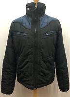 Men's Diesel Weeno Denim Puffa Winter Coat Hideaway Hood   Size XXL