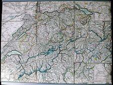 Antique map, Keller's Keilecharte der Schweiz