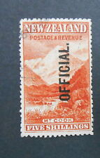 NEW ZEALAND 1898 Pictorial Official 5/- Mt Cook This is a splendid FU copy nice