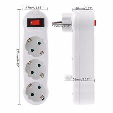 EU Steckdose Steckdosenverteiler-Steckdosenleiste Mehrfachstecker Stromverteiler