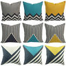Geometric Linen Cotton Bed Home Cushion Pillow Throw Cover Decor Sofa Case 18''