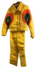 Vintage 70s 80s Yellow Obermeyer Ladies Size 12 M Two piece SKI SUIT Snowsuit
