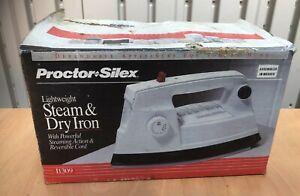 PROCTOR SILEX LIGHTWEIGHT STEAM & DRY IRON W/INSTRUCTIONS I1309