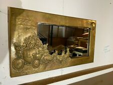 Arts and Crafts Brass Framed Wall Mirror