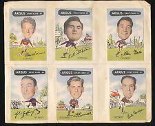 1954 Argus cards Fitzroy Team Set  X 12 card Allan Ruthven Tony Ongarello