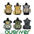Outdoor Adjustable Military Tactical Vest Paintball MOLLE Airsoft Combat SWAT