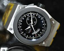 Invicta Men's Rare 6431 Akula Swiss Reserve GMT Black Dial Yellow Poly Watch