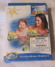 """Intex The Wet Set Inflatable Swimming Happy Turtle Swim Arm Bands 9"""" x 6"""" 2 pack"""