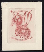 39)Nr.003-EXLIBRIS- P. Süss, Orchidee,  C3 - Radierung