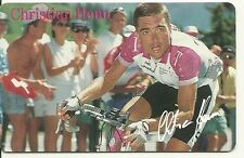 RARE / CARTE TELEPHONE - CHRISTIAN HENN / TOUR DE FRANCE CYCLISME VELO PHONECARD