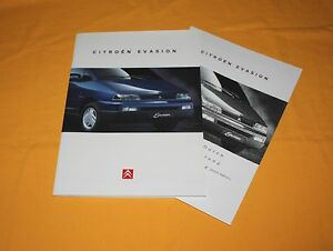 Citroen Evasion 1995 Prospekt Brochure Depliant Catalog Prospetto Prospecto