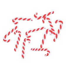 10x Christmas Cane Resin Cabochon Flatback for DIY Phone Embellishment Decor ES