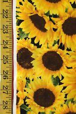 Packed Sunflowers - Timeless Treasures Fabric Yellow Flower