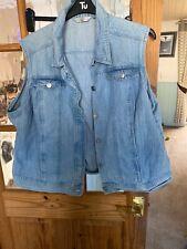 Ladies Denim Waistcoat Size 24
