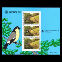 """Azores 1986 - EUROPA Stamps """"Nature Conservation"""" Birds - Sc 356 MNH"""