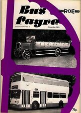 "Magazine ~ ""Bus Fayre"" Vol 1 No 5: 1978 - History of Roe Coachbuilders 1916-1978"