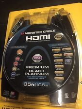 Monster Black HDMI Cables Platinum Ultra High Speed With Ethernet And Indicators