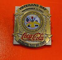 2001 Coca-Cola Veterans Day RARE Pin! United States Army! Military