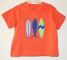 NIP Kelly's Kids David Tangerine Tango Surfboards & Shark Applique Shirt ~Sz 6M