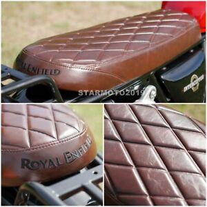 ROYAL ENFIELD SEAT INTERCEPTOR 650 INT GT 650 SOFTER DIAMOND LUXURY GRADE BROWN