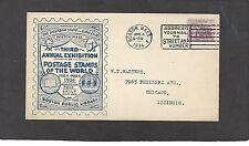 1934 3rd ANNUAL EXHIBITION-BOSTON LIBRARY-MAR 4-1934-SUBURBAN STAMP CLUB
