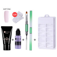 Nagel Kit UV Gel French Nail Art Maniküre Nail Tips Extending Poly Build Gel Set