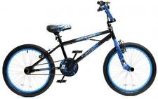 "Zombie Outbreak Boys Kids Freestyle BMX Bike 20"" Wheel Giro 360 Stunt Pegs Blue"