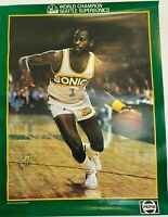 "World Champions Gus Will #1 Seattle Supersonics Pepsi Poster Size 22""x17"""
