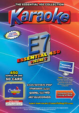 Chartbuster Essential 450 Karaoke Songs Vol 7 SD Card or USB CDG Music 4 PLAYER