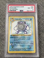 1999 Pokemon Poliwhirl 38/102 PSA 8 NM-MT 1st Edition Base Set Shadowless