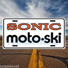 Moto-Ski Sonic Vintage snowmobile style license plate