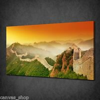 SUNSET OVER GREAT WALL OF CHINA MODERN ART CANVAS PRINT PICTURE READY TO HANG