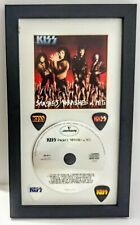 """KISS: Smashes Thrashes and Hits CD (1988) & 4 🎸 Picks in 13""""x8"""" Display Frame"""