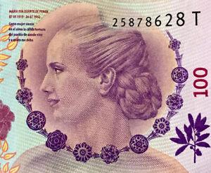 2012-2016 100 PESOS EVA PERON (EVITA) ARGENTINA CURRENCY BANKNOTE MONEY BILL