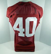 2009-15 Alabama Crimson Tide #40 Game Used Red Jersey BAMA00315