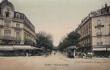 DIJON rue de la gare timbrée 1909