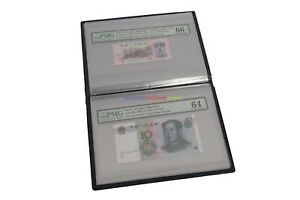 Album Paper Money Storage Book (20 Pockets) For PMG Notes Graded Banknote Holder