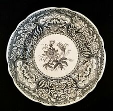 "Spode Archive Collection FLORAL Georgian Black 9"" Lunch Plate EXCELLENT"