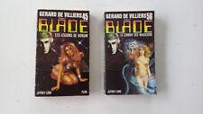 Lot 2x livre poche BLADE 45 & 56 de Gerard de VILLIERS editions PLON